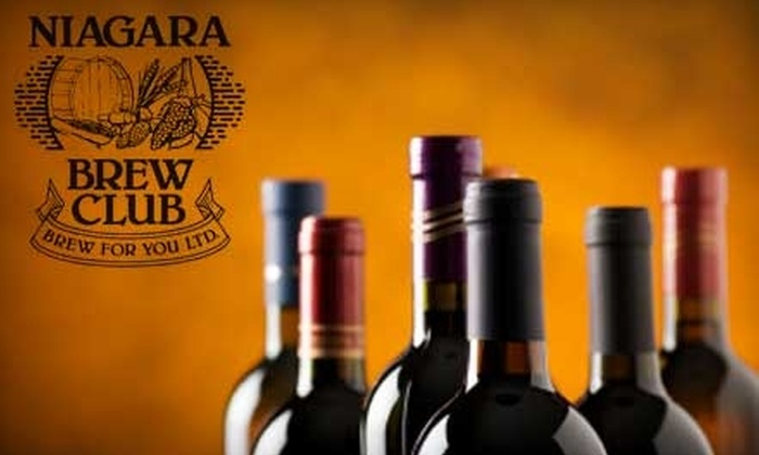 Niagara Brew Club - Lakeport: $59 For a Winemaking Experience Yielding 30 Bottles of Wine from Niagara Brew Club ($135 Value)