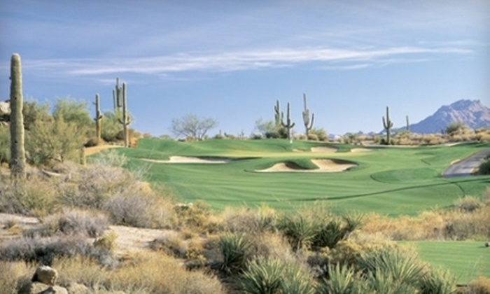 Troon North Golf Club - Troon North: $179 for Two 9-Hole Rounds of Golf and 10 Lesson Clinics at Troon North Golf Club in Scottsdale ($990 Value)