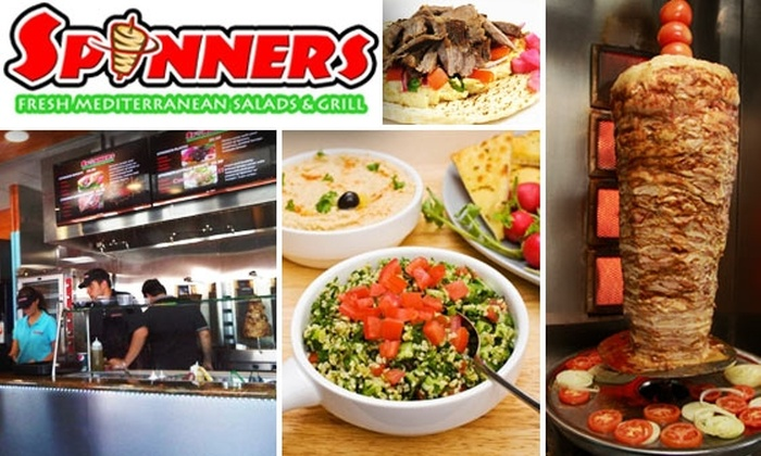 Spinners - Rancho San Diego: $10 for $20 Worth of Fresh Mediterranean Food at Spinners