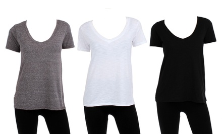 6-Pack of Women's Boutique-Style V-Neck Tees