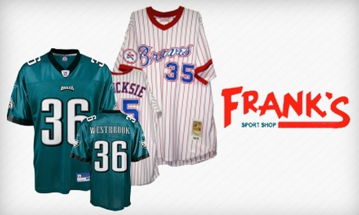 Frank's Sport Shop - Tremont: $50 for Throwback or Former Player's Sports Jersey at Frank's Sport Shop (Up to $179 Value)