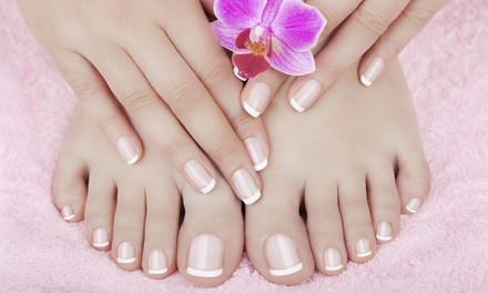 Manicure or Pedicure, or Both at Hair and Beauty Treats (Up to 50% Off)