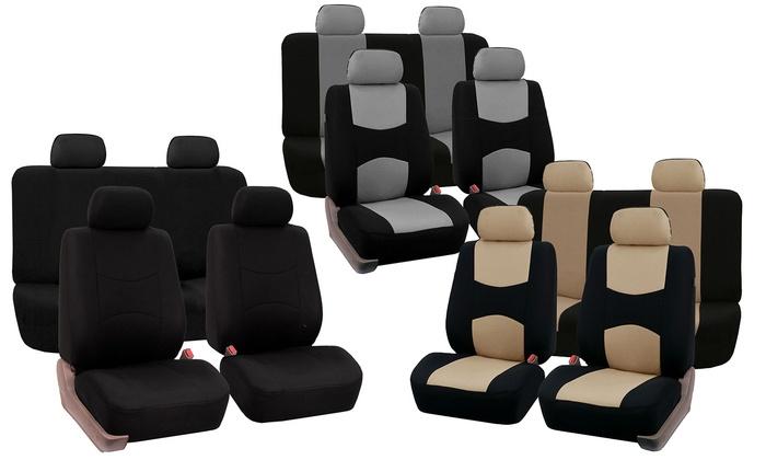 Full Set Of Fabric Car Seat Covers