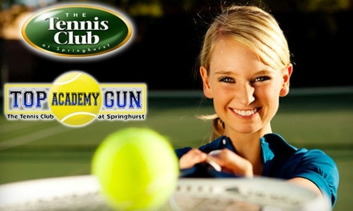 Tennis Club at Springhurst  - Multiple Locations: $45 for Six Sessions of Cardio Tennis or Six Intro to Tennis Classes at the Tennis Club at Springhurst or Top Gun Academy ($126 Value)