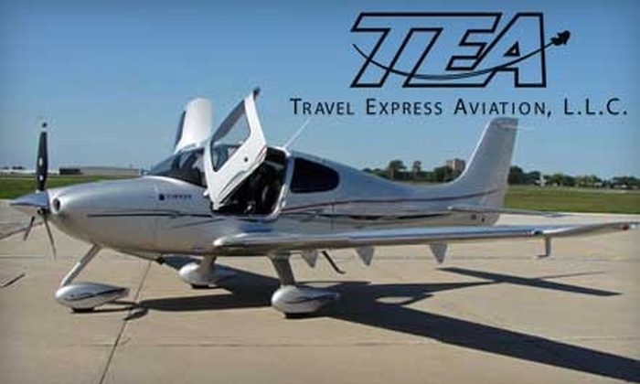 Travel Express Aviation - Wayne: $185 for a One-Hour Introductory Flight Lesson at Travel Express Aviation in West Chicago ($365 Value)