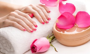 bounce hair and beauty: Manicure or Pedicure (£12) or Both (£19) Plus Gellux Polish (from £24) at Bounce Hair and Beauty (Up to 71% Off)