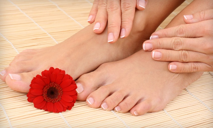 Perfect 10 Nail Salon - Sandy: $30 for a Deluxe Mani-Pedi with Two Nail Designs at Perfect 10 Nail Salon in Sandy ($70 Value)