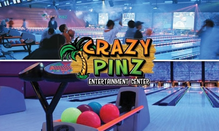 half off bowling at crazy pinz crazy pinz entertainment center