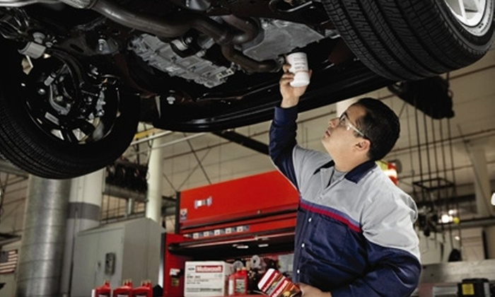 Quick Lane Tire and Auto Center - Multiple Locations: $20 for an Oil Change, Tire Rotation, and More (Up to $70.54 Value) at Quick Lane Tire and Auto Center. Three Locations Available.