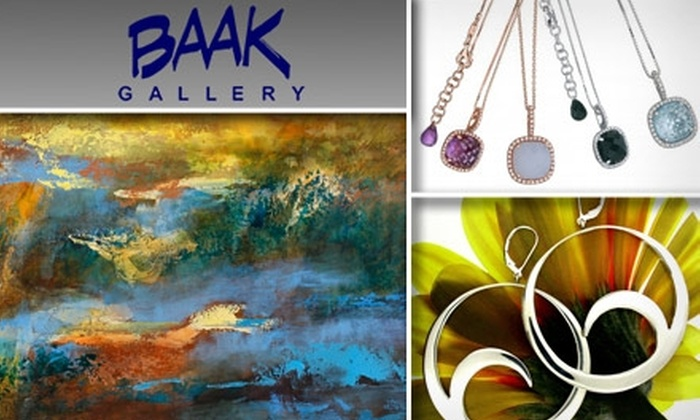 BAAK Gallery & Abrano Silver  - Multiple Locations: $30 for $60 Worth of Silver, Art, and Jewelry at Baak Gallery or Abrano Silver