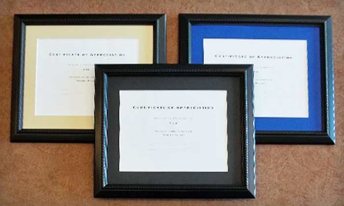 Framing Palace - Multiple Locations: Diploma Framing Package or $40 for $110 Worth of Framing Services at Framing Palace (Up to 72% Off)