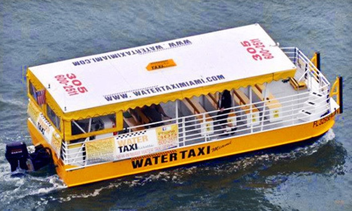 Water Taxi Miami - Multiple Locations: Round-Trip Water-Taxi Ride or Day of Water-Taxi Rides from Water Taxi Miami (Up to Half Off)
