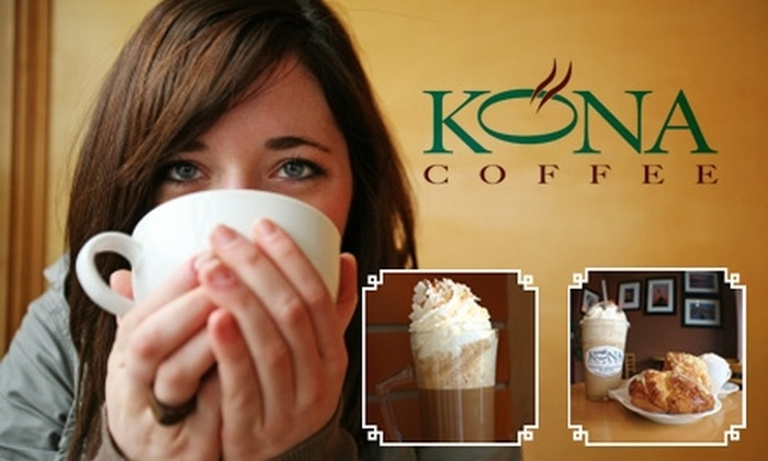 Kona Coffee - Union Square: $5 for $10 Worth of Fair-Trade Barista Beverages and Café Fare at Kona Coffee