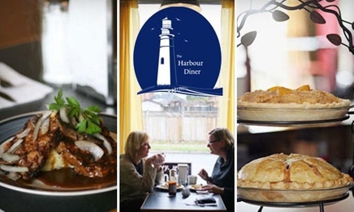The Harbour Diner - North End East: $12 for $25 Worth of Hearty Diner Fare and Drinks at The Harbour Diner