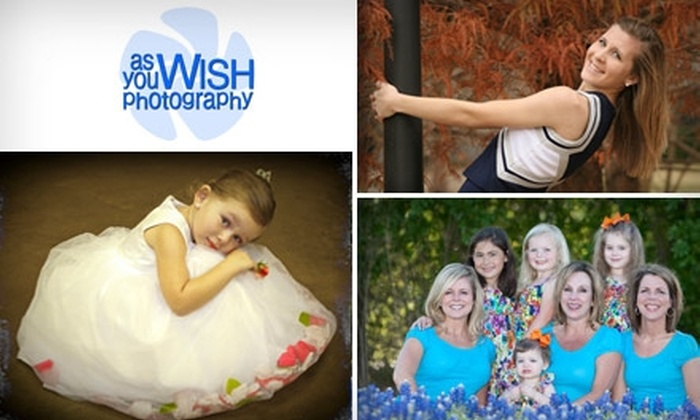 As You Wish Photography - Austin: $45 for Portrait Session and $40 Credit or 5x5 Album at As You Wish Photography ($200 Value)