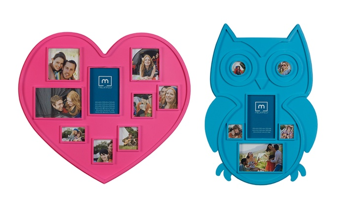 Heart or Owl Collage Frame | Groupon Goods
