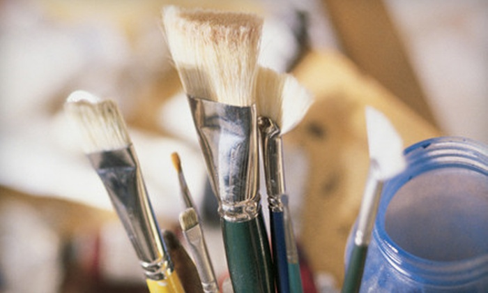 Katerina Atapina Art School - Thornhill: $30 for Acrylic, Watercolour, or Sculpture Class with Supplies at Katerina Atapina Art School in Thornhill ($60 Value)