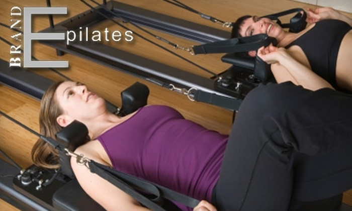Brand E Pilates - Woodward Park: $29 for Four Pilates Sessions at Brand E Pilates ($76 Value)