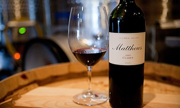 Matthews Estate Winery - Cottage Lake: Wine Tasting for Two or Up to Eight at Matthews Estate Winery in Woodinville