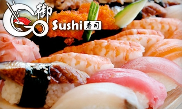 Go Sushi Japanese Restaurant - Sharp Park: $12 for $25 Worth of Sushi and Drinks at Go Sushi Japanese Restaurant in Pacifica