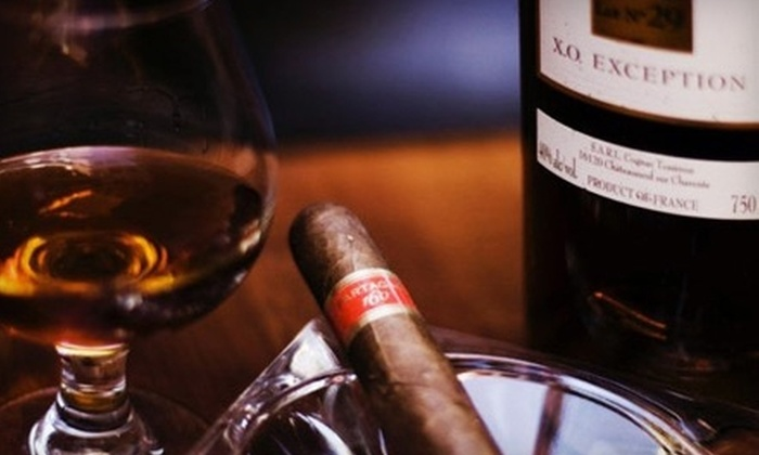 Cigar Bar & Grill - Financial District: $20 for $40 Worth of Upscale Bar Fare, Cigars, Beer, and Wine at Cigar Bar & Grill
