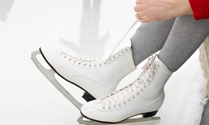 Center Ice Arena: Public Ice-Skating Sessions or Beginner Lessons at Center Ice Arena (Up to 58% Off). Four Options Available.