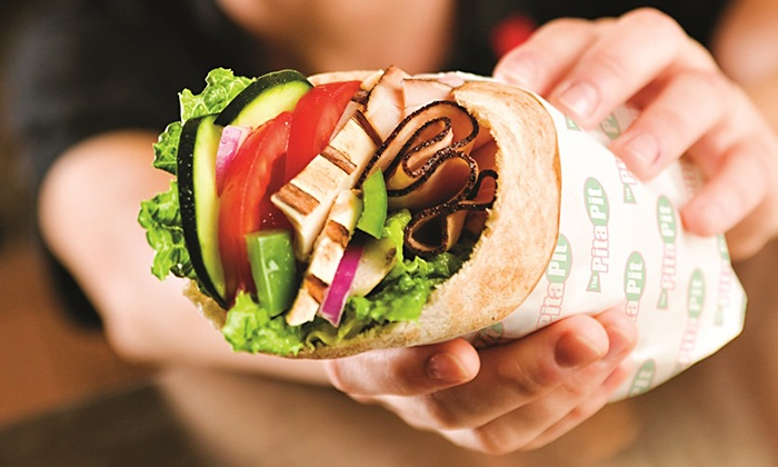 The Pita Pit - Multiple Locations: $12 for Four Groupons, Each Good for $5 Worth of Fresh Pita Sandwiches at Pita Pit ($20 Value)