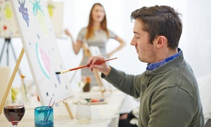 Raise Your Brush: Wine and Painting Class for One or Two at Raise Your Brush (Up to 54% Off)