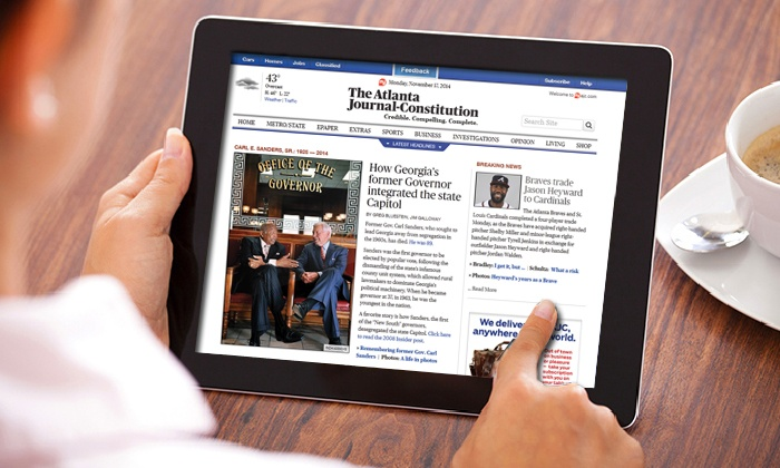 "_The Atlanta Journal-Constitution_: $19.99 for a 12-Month Digital Subscription to ""Atlanta Journal-Constitution"" ($179.88 Value)"