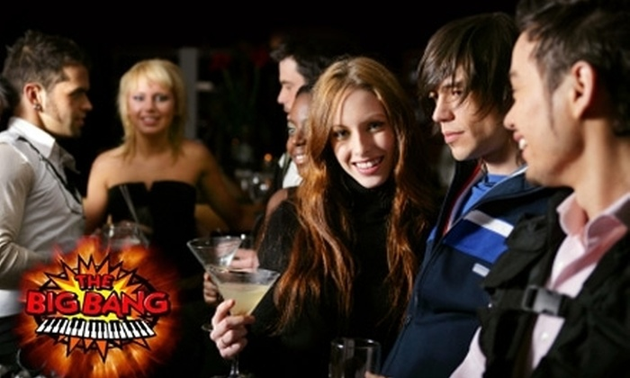 The Big Bang Dueling Piano Bar - Downtown St. Louis: $20 for a Reserved Table, Admission for Up to Four, Pizza, and a Round of Big Bang Signature Stoli Shots at The Big Bang Dueling Piano Bar (Up to $60 Value)