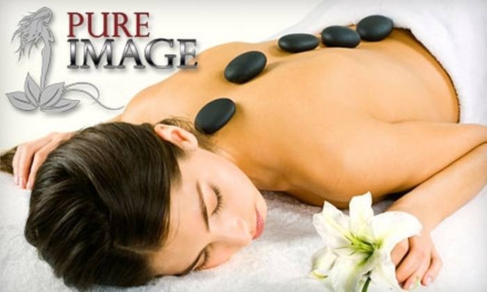 Pure Image Salon & Spa - Dormont: $45 for 60-Minute Hot-Stone Massage or Hot-Stone Facial at Pure Image Salon & Spa