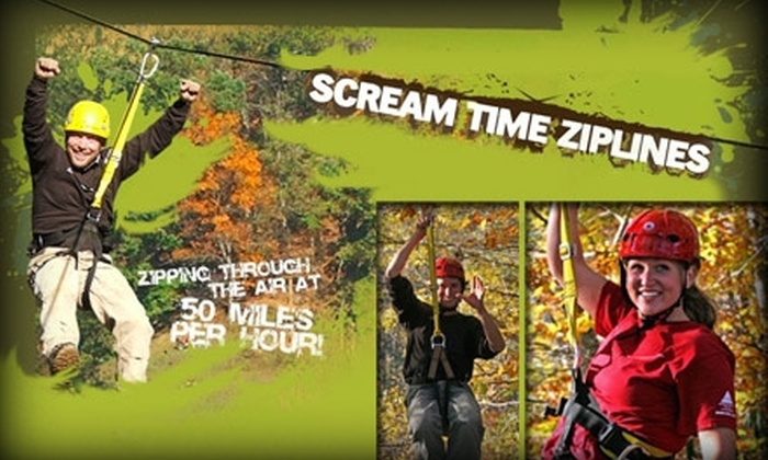 Scream Time Zip Line - Cove Creek: $40 for a Guided Tour by Scream Time Zipline ($89 Value)