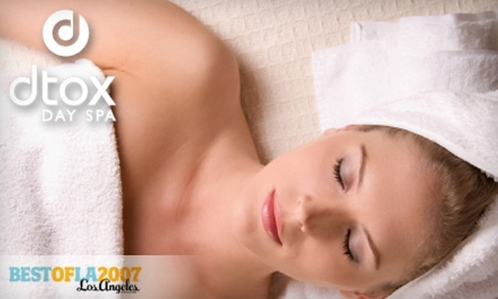 dtox day spa - Multiple Locations: $50 Massage or Facial at Dtox Day Spa ($100 Value). Choose Between Two Locations.