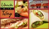 Lunch with Tony - Alviso: $6 for $12 Worth of Homemade Café Fare at Lunch with Tony in Alviso
