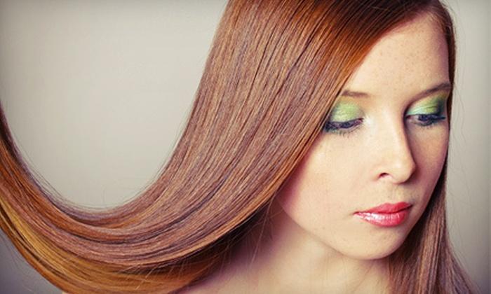 Mina's Salon - Plano: Brazilian Blowout or Brazilian Blowout with Haircut at Mina's Salon in Plano (Up to 78% Off)