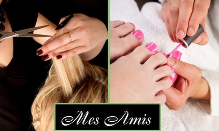 Mes Amis - Summit Hill: $50 Haircut and Pedicure at Mes Amis Le Spa (Up to $100 Value)