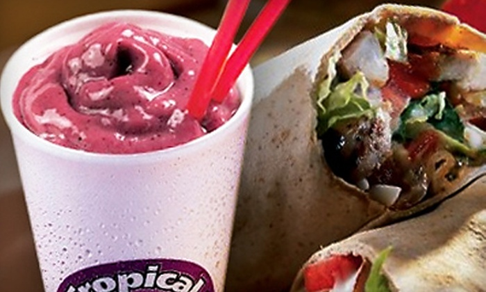 Tropical Smoothie Cafe - St. Augustine Beach: $7 for $15 Worth of Smoothies and Café Fare at Tropical Smoothie café in St. Augustine