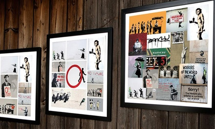 Banksy Collage Canvas in Choice of Size from £5.95