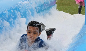 Wild and Crazy Entertainment, LLC: Double Bubble Fun Run for One or Two Adults and Children on September 10 or 11 (Up to 58% Off)