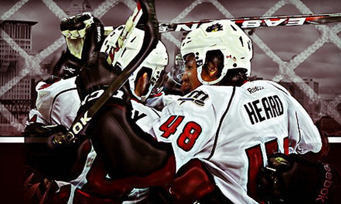 Lake Erie Monsters - Quicken Loans Arena : Lake Erie Monsters Hockey Game at Quicken Loans Arena (Up to 68% Off). Six Options Available.