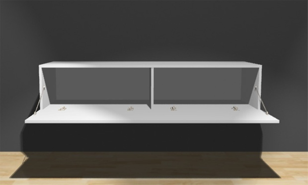 Floating Gloss TV Cabinet | Groupon Goods
