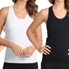 12-Pack Of Women's Ribbed Cotton Tank Tops