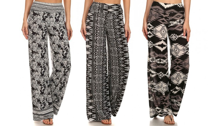 Women's Wide Leg Palazzo Pants | Groupon Goods