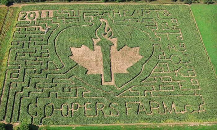 Cooper's CSA Farm and Maze - Zephyr: $8 for a Corn-Maze Outing for Two at Cooper's CSA Farm and Maze in Zephyr ($19 Value)