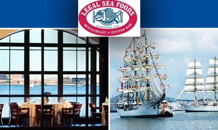 Legal Sea Foods - Boston: $67 for VIP Tall Ship Pass and Legal Sea Foods Buffet on 7/11, 11am to 1pm—Multiple Times Available