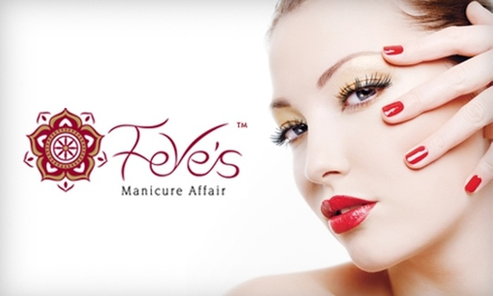 Feve's Manicure Affair - Woodland Hills: $22 for a Mani-Pedi and a Glass of Wine at Feve's Manicure Affair ($45 Value)