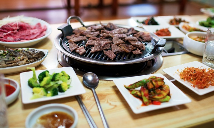 Palace Korean BBQ - Annandale: Unlimited Hot Pot or Barbecue Meal with Sushi Buffet for Two at Palace Korean BBQ (Up to 40% Off)