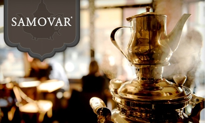 Samovar - Multiple Locations: $25 for $50 Worth of Tea and Fare at Samovar. Choose Between Two Locations.