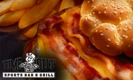 $15 Groupon to Time Out Sports Bar & Grill - Time Out Sports Bar & Grill in Green Bay