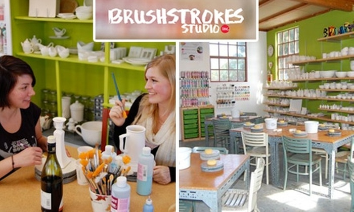Brushstrokes Studio - Northwest Berkeley: $22 for $45 Worth of Studio Time, Pottery, and Paint at Brushstrokes Studio